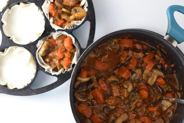 Mini Beef Stew Pot Pies - Natalie Paramore