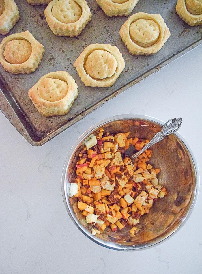 Apple Chorizo Brie Puff Pastry_Natalie Paramore
