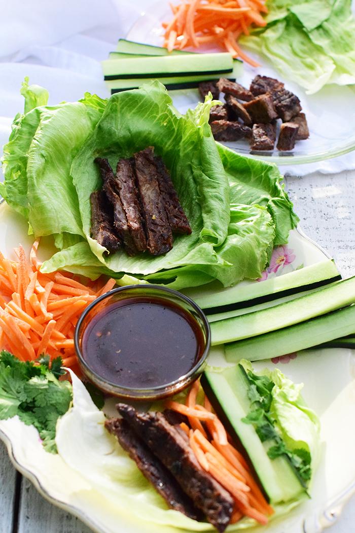 Asian Flank Steak Lettuce Wraps_Natalie Paramore