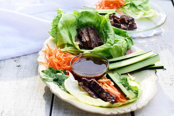 Asian Inspired Lettuce Wraps_Natalie Paramore