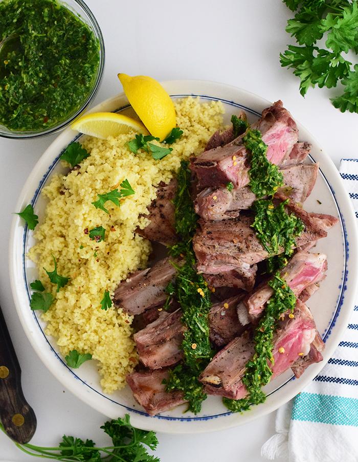 Capra Lamb Ribs with Chimichurri