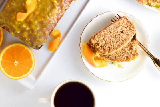 Chai Spice Coffee Cake with Orange Glaze