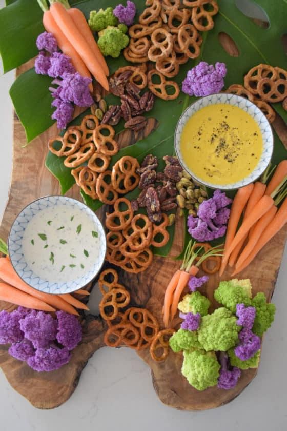 Colorful Veggie and Pretzel Board_Natalie Paramore