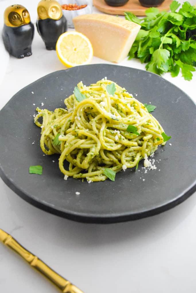 Creamy Pesto Pasta_Natalie Paramore