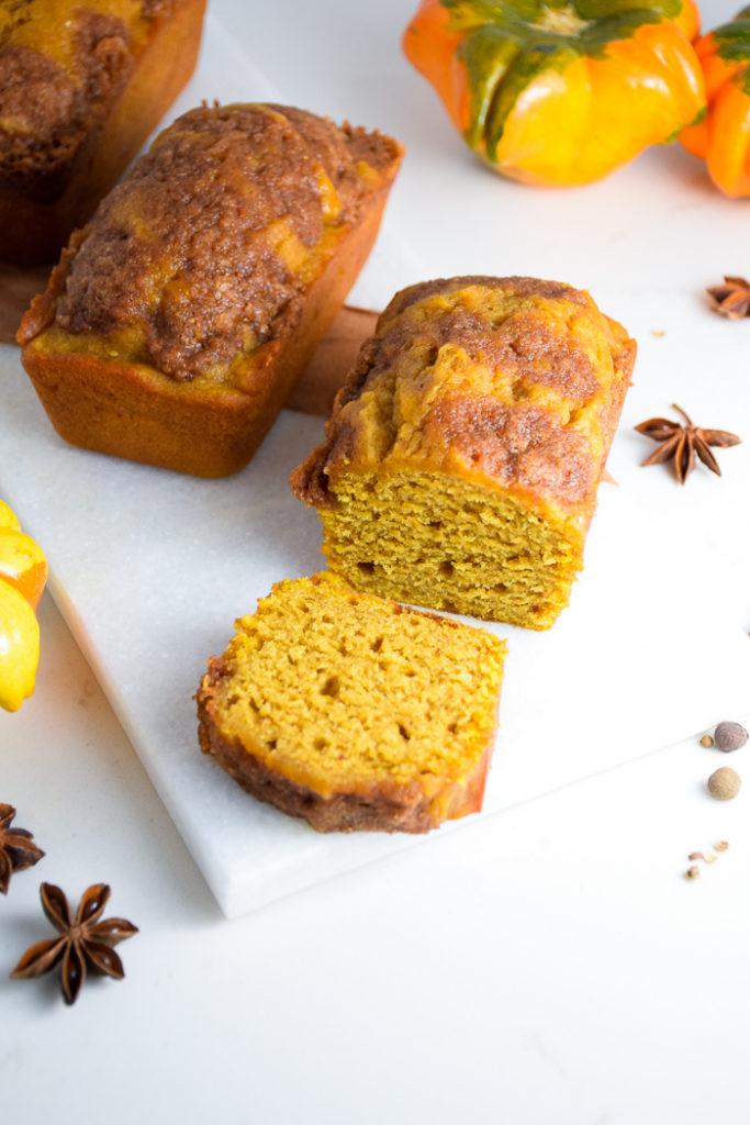 Cinnamon Sugar Pumpkin Bread