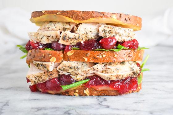 Leftover Turkey Sandwich with a Moist Maker
