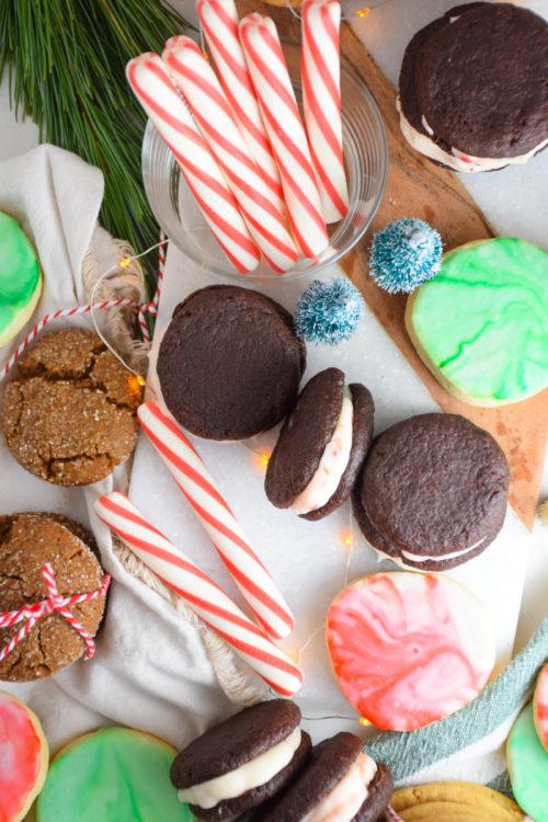 Dark Chocolate Créme de Candy Canes Christmas Cookies