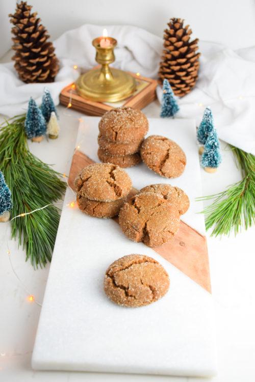 Gingersnap Cookies Holiday Cookie Swap