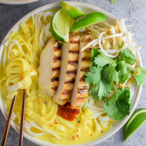 Grilled Chicken Coconut Lemongrass Noodle Bowls_Natalie Paramore-7