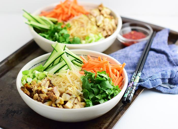 Healthy Chicken Vermicelli Bowl Recipes_Natalie Paramore