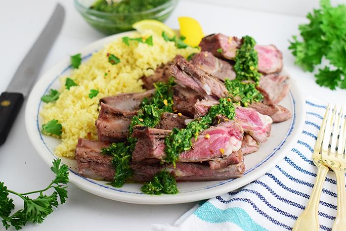Lamb Ribs with Chimichurri