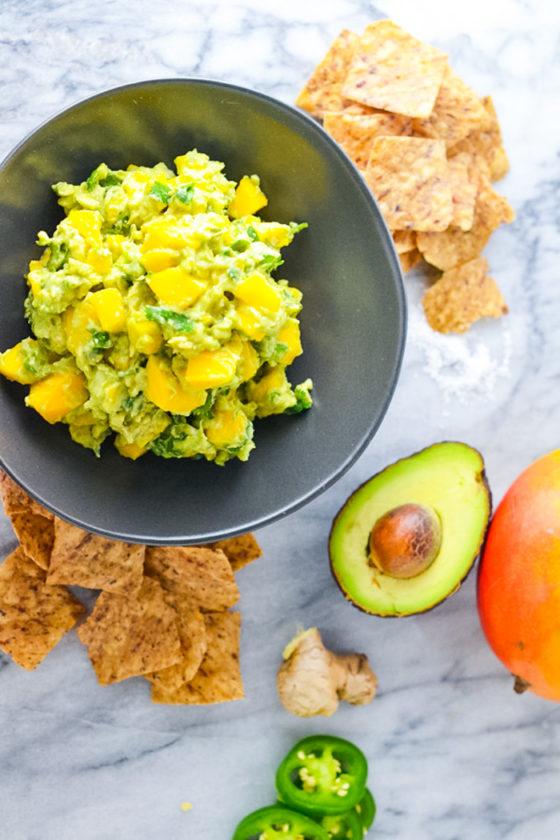 Mango Ginger Guacamole Easy Recipe_Natalie Paramore