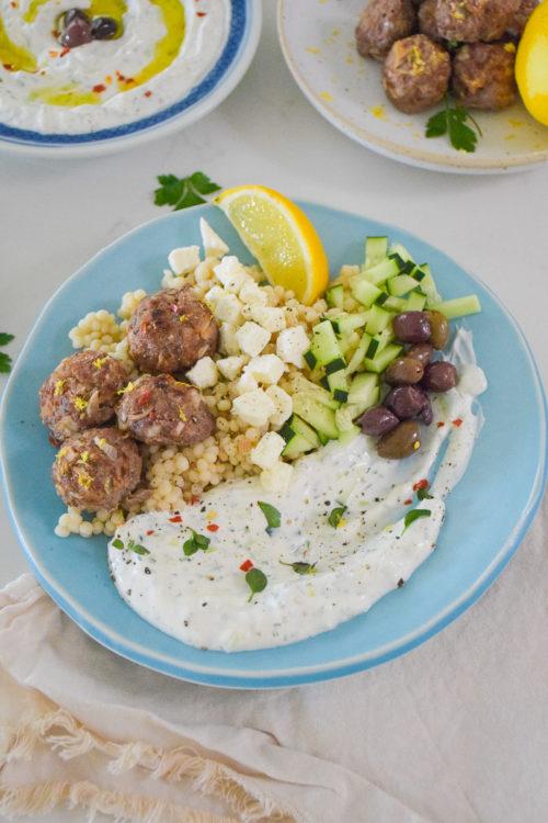 Mediterranean Bowl with Greek Tzatziki Sauce