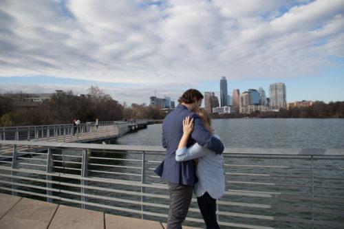 Our Engagement Story - Austin TX Blogger Lady Bird Lake Proposal Surprise Proposal