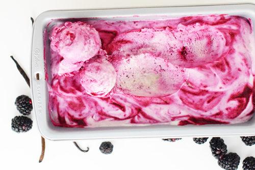 No Churn Blackberry Ice Cream_Natalie Paramore