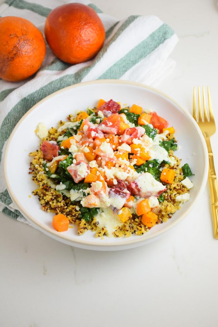 Healthy Quinoa Citrus Bowl_Natalie Paramore