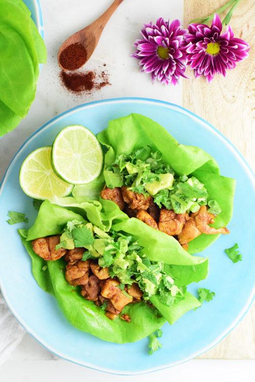 Smoky Asian Chicken Lettuce Wraps Recipe_Natalie Paramore