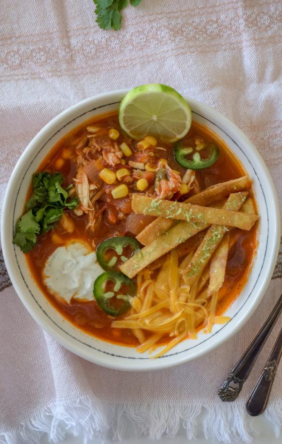 Spicy Chicken Tortilla Soup Recipe